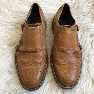 Cole Haan Full Brogue Medallion Double Monk Shoe